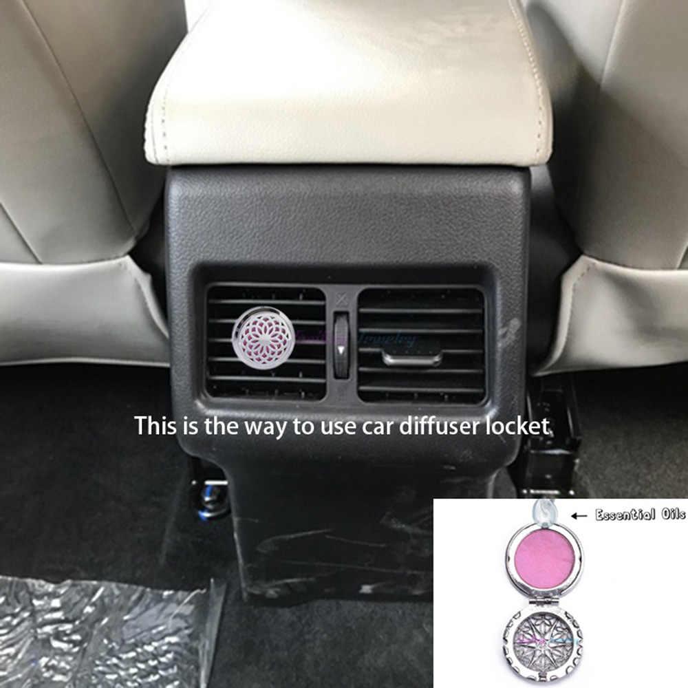 นกฮูกสแตนเลสรถคลิปอุปกรณ์เสริมเครื่องประดับน้ำมันหอมระเหย Locket Diffuser Locket จี้ผีเสื้อ