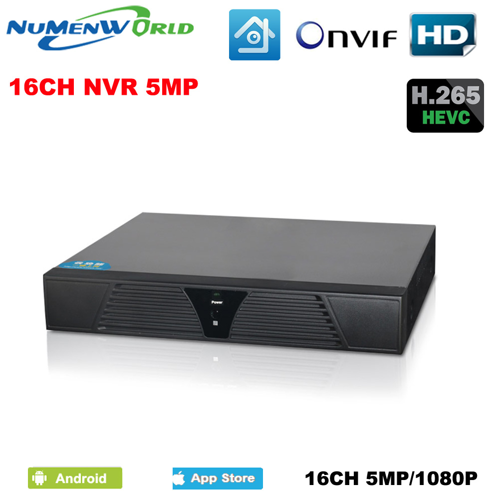 Numenworld NEW Full HD 16 channel 5MP NVR CCTV 16CH NVR For IP Camera system ONVIF H.264 HDMI Network Video RecorderNumenworld NEW Full HD 16 channel 5MP NVR CCTV 16CH NVR For IP Camera system ONVIF H.264 HDMI Network Video Recorder