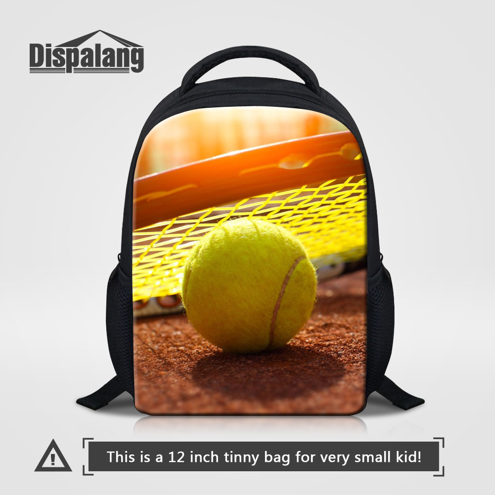 Dispalang Kids Mochila Infantil 3D Printing Ball School Bags For Baby Boys Backetballs Soccers Child Mini Backpack Male Mochilas