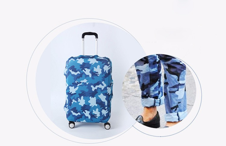 TRIPNUO Thicker Blue City Luggage Cover Travel Suitcase Protective Cover for Trunk Case Apply to 19''-32'' Suitcase Cover 31