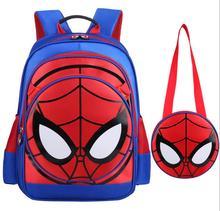 3D Spiderman Mochilas escolares para Niños Bolsas Escuela de Dibujos Animados Infantiles A Prueba de agua Mochilas con Bolsos Conjunto Niños Niñas Schoolbag