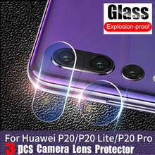 3Pcs Tempered Glass for Huawei P30 Pro p20 P10 Back Camera Lens Screen Protector on Huawei P20 lite Mate 20 X P smart 2019 Glass(China)