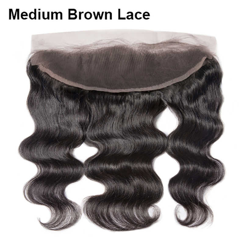 HJ Weave Beauty Indian Body Wave Transparent Lace Frontal Closure 100% Human Hair Ear To Ear  13*4 Lace Frontal