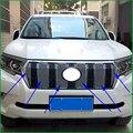 Для Toyota Land Cruiser Prado LC150 2018 передний бампер из нержавеющей стали сотовая решетка Центральная решетка крышка для гриля отделка Стайлинг автомо...