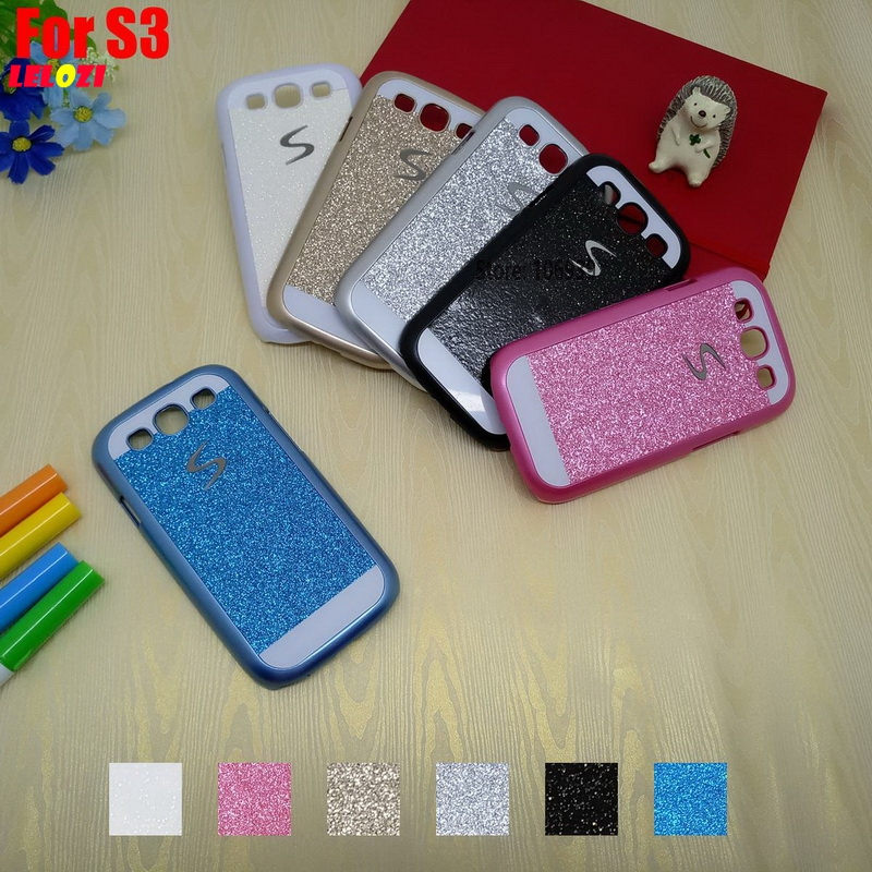 LELOZI Fashion Luxury Vintage Bling Shinning Glitter Hard PC Capinha Etui Case Cover For Samsung Galaxy S3 SIII I9305 Pink Blue