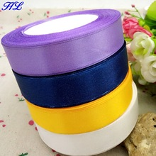 4 reels 20mm width satin ribbon wedding decoration crafts packing webbing home products free shipping A268