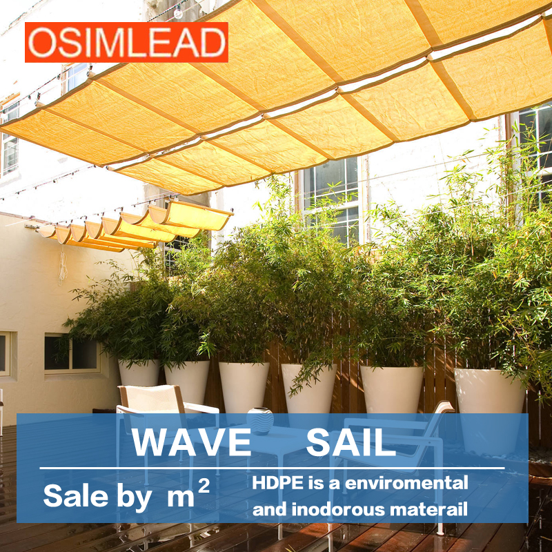 Outdoor Patio Awning Canopy Shading Terrace Sun Room Ventilation Expansion  Wave Ceiling Curtain(China (