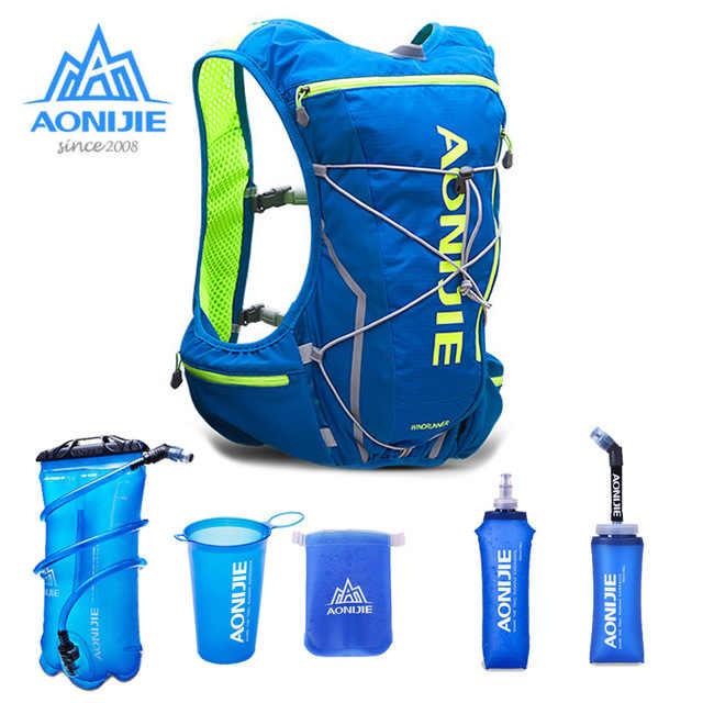 83fe913374 AONIJIE 10L Women Men Lightweight Running Backpack Outdoor Sports Trail Racing  Marathon Hiking Fitness Bag Hydration