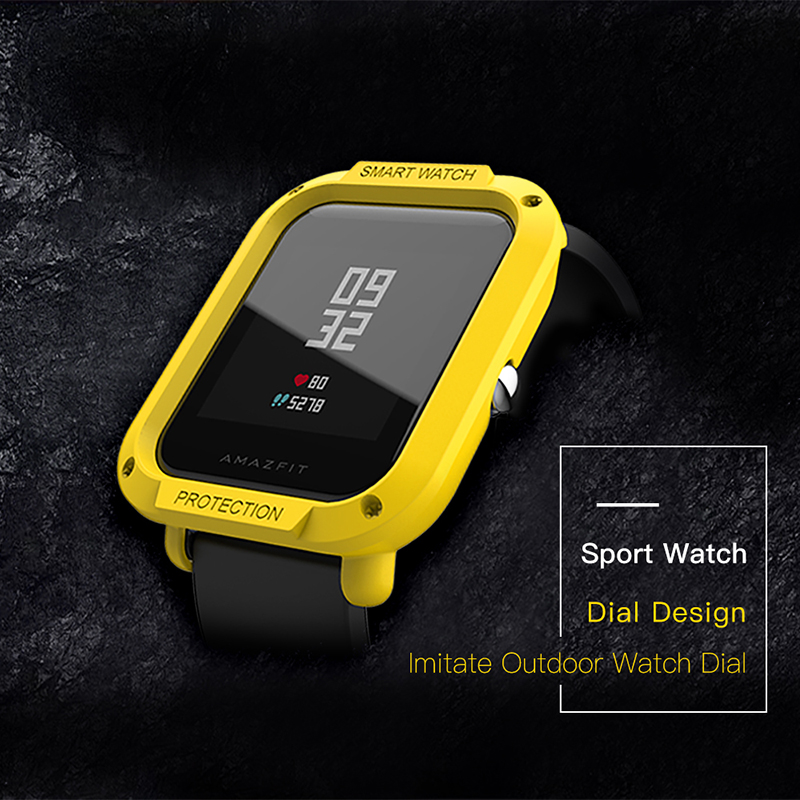 Image 4 - For Amazfit Bip Cases Smart Watches protector for Xiaomi Mi Huami Covers Midong PC Shell Lightweight Colourful SIKAI bip lite-in Smart Accessories from Consumer Electronics