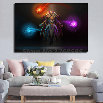 Invoker Dota 2 Wallpaper Wall Art Canvas Poster And Print Canvas Painting Decorative Picture For Office Living Room Home Decor 1