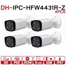 DH IPC HFW4431R Z 4 cái/lốc 4MP Mạng IP 2.7 12mm VF Ống Kính Lấy Nét Tự Động 80m Viên Đạn an ninh POE Cho CAMERA QUAN SÁT Hệ Thống