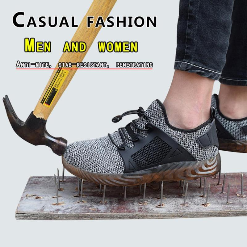 Sneakers Comfortable Safety Work Shoes Men Shoes Men Sport Shoes Sneakers Fleece Cowhide For Heavy Duty