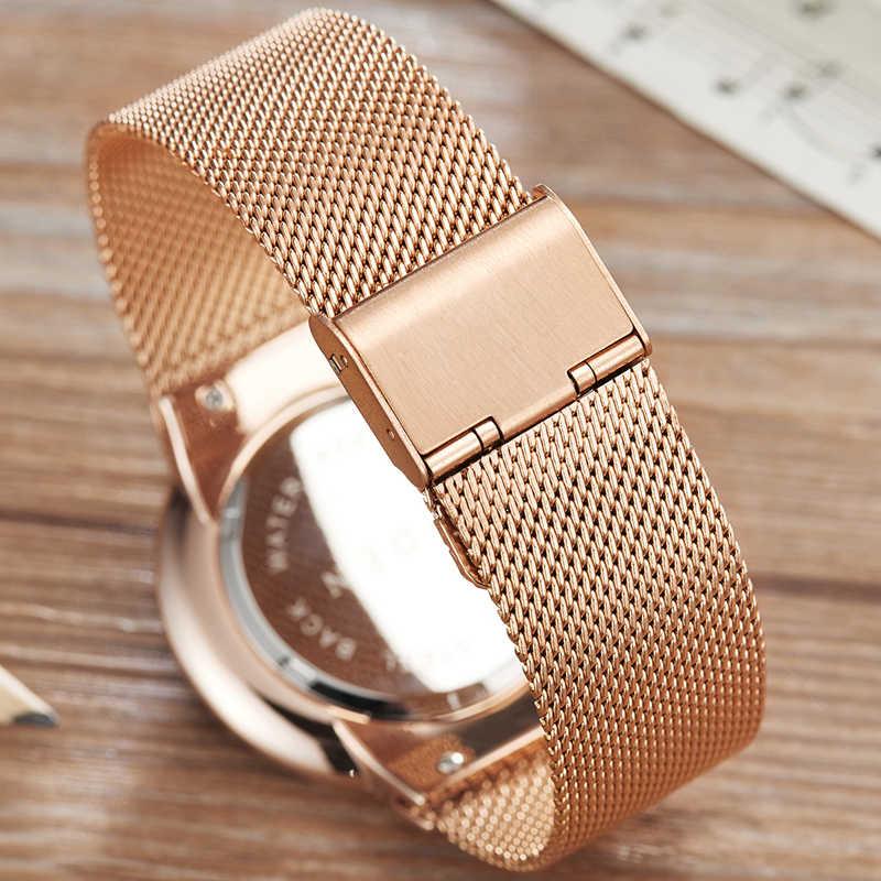 LIGE mode hommes montres Top marque de luxe Ultra mince montre à Quartz hommes en acier maille bracelet étanche Sport montre Relogio Masculino