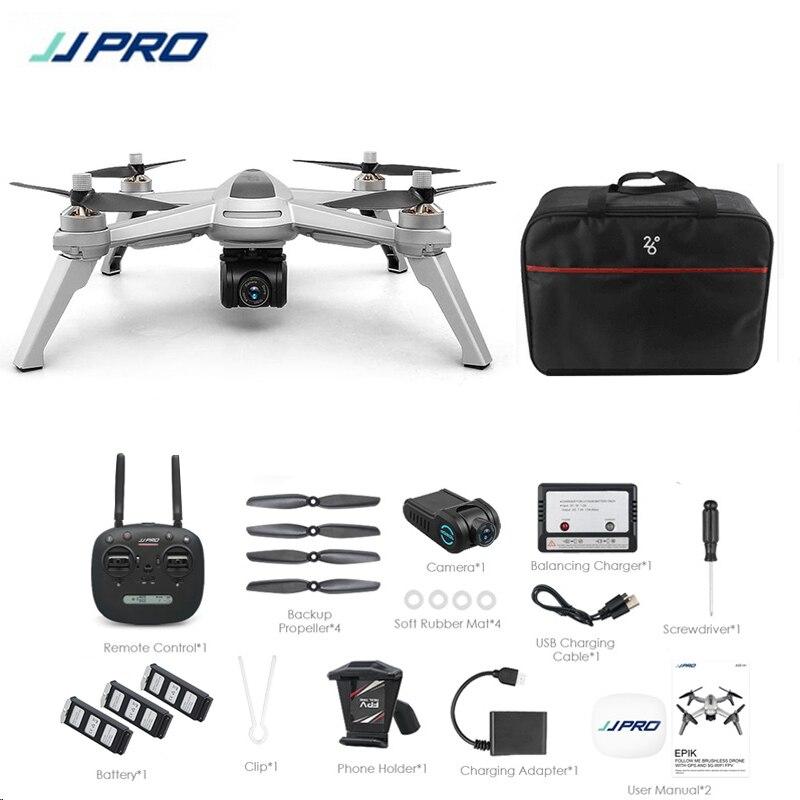 Brindes! JJRC JJPRO X5 5G GPS WIFI FPV Com Câmera HD 1080 P Max 18 Minutos Me Seguir Altitude Hold RC Drone Quadcopter RTF