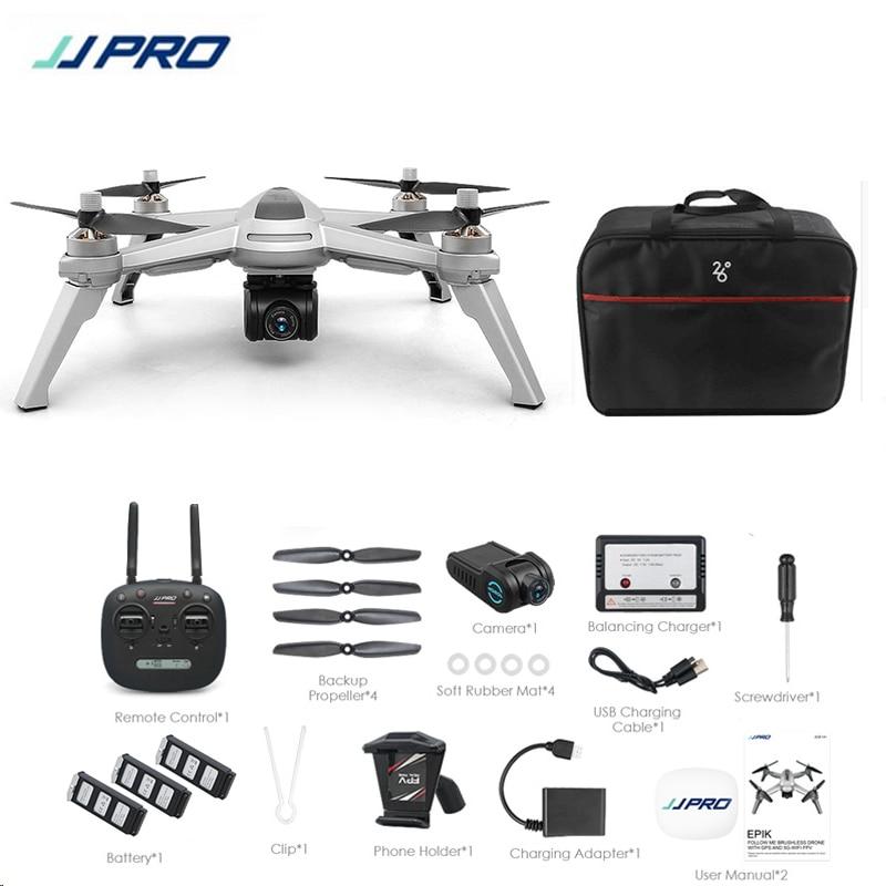 Cadeaux gratuits! JJRC JJPRO X5 5G GPS WIFI FPV Avec 1080 P HD Caméra Max 18 Minutes Suivez-moi Maintien D'altitude drone rc quadrirotor RTF