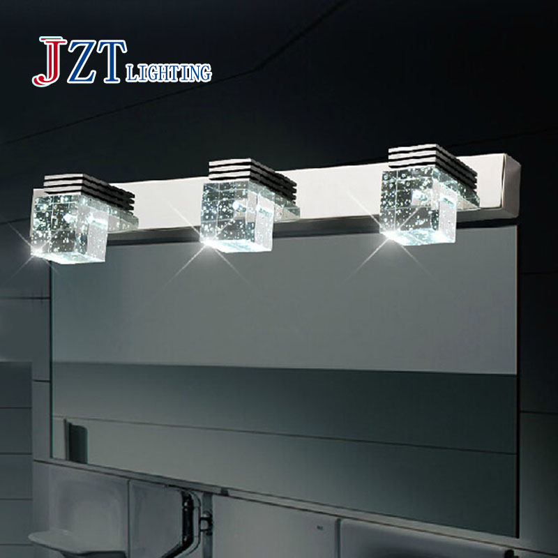 Z Best price Modern Bathroom Crystal Lights Crystal Wall Lamp 3 Light LED Bathroom Light Cabinet Mirror Light 3x3W Free Shipping