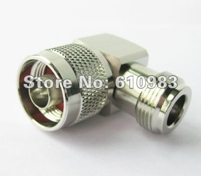 Free shipping (5 pieces/lot) N adapter N Jack female to N Plug male right angle connector adapter 5 pieces lot 80nf03 80n03 to 263