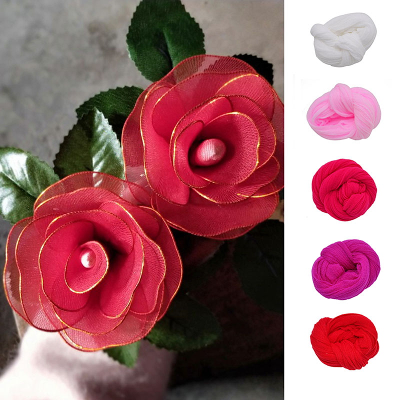 5pcs Tensile Nylon Stocking Flower Making Material Diy Ronde