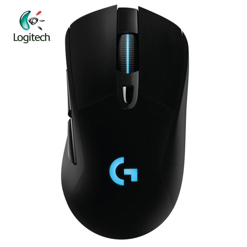 Logitech G703 2.4Ghz Wireless Gaming Mouse with RGB for PC Laptop Genuine 12000DPI Optical Ergonomic Official Agency Test logitech m570 2 4g wireless gaming mouse optical trackball ergonomic mouse gamer for windows 10 8 7 mac os support official test