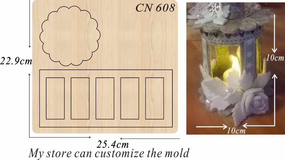 Lantern party home decoration 2 new wooden mould cutting dies for scrapbooking Thickness 15 8mm