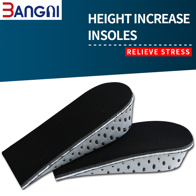 3ANGNI 1 Pair Unisexe  Breathable Soft Height Increase Memory Foam Shoes Lifts insoles For Man Women Boots W