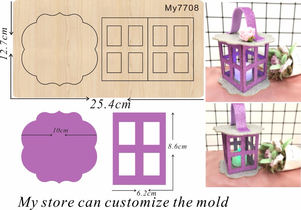 Lantern family party decoration 13 new wooden mould cutting dies for scrapbooking Thickness 15 8mm