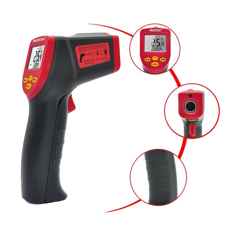 Digital infrarrojos láser termómetro temperatura humedad medidor pirómetro