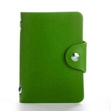 Fashion PU Leather Function 24 Bits Card Case Business Card Holder Men Women Credit Passport Card Bag ID Passport Card Wallet(China)
