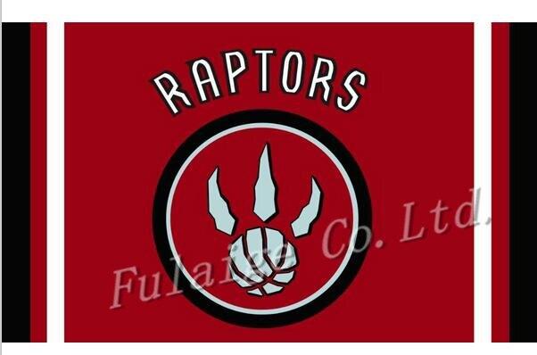 Toronto Raptors flag 3ftx5ft Banner 100D Polyester Flag metal Grommets
