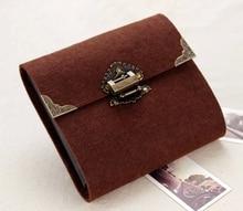 Tres tamaño hechos a mano candado antiguo de la felpa fieltro cubierta diy álbum manual tipo pegajoso álbum del bebé del álbum de fotos de época 60-120 sábanas