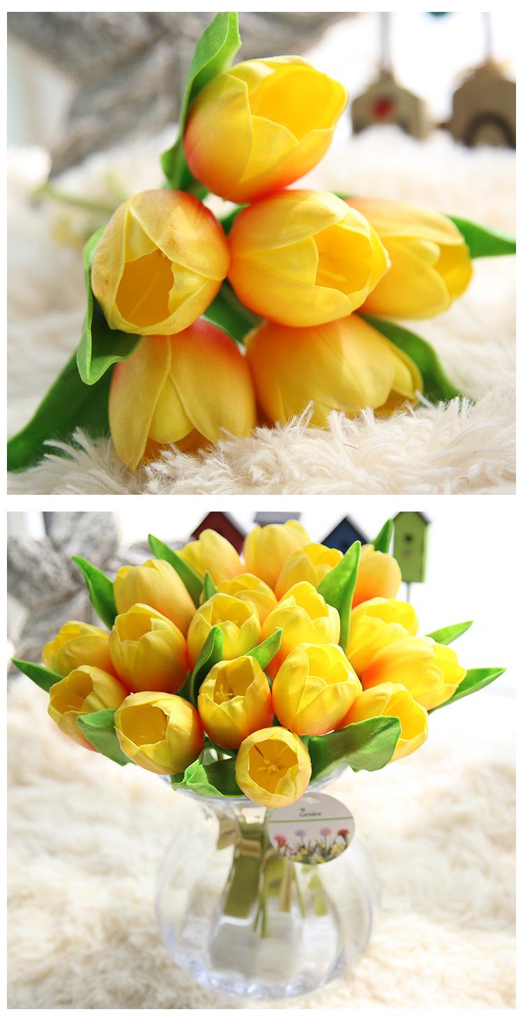 Hoa Tulip giả M-173 màu vàng