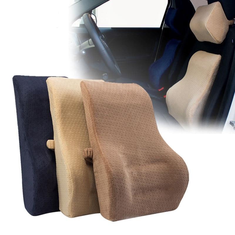 Driver Back Support Memory Foam Car Seat Waist Set Pillows