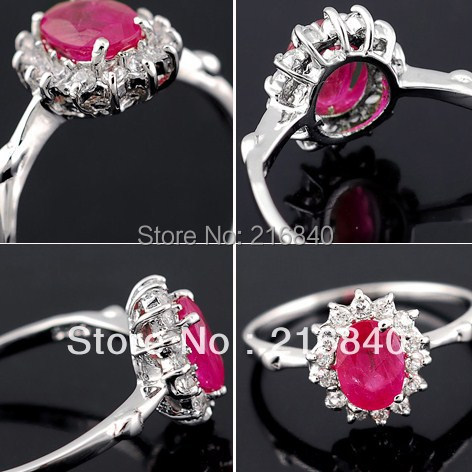 Natural Pink Ruby Ring Fancy Sapphire 925 Sterling silver Woman Fashion Fine Elegant Jewelry Princess Birthstone Gift SR1198R