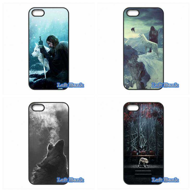 games Of Thrones White Wolf Phone Cases Cover For Apple iPhone 4 4S 5 5S 5C SE 6 6S 7 Plus 4.7 5.5 iPod Touch 4 5 6