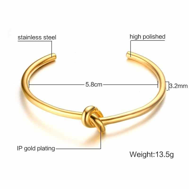Vnox złoty kolor węzeł naszyjnik i bransoletka zestawy biżuterii dla kobiet Party eleganckie akcesoria kostiumowe