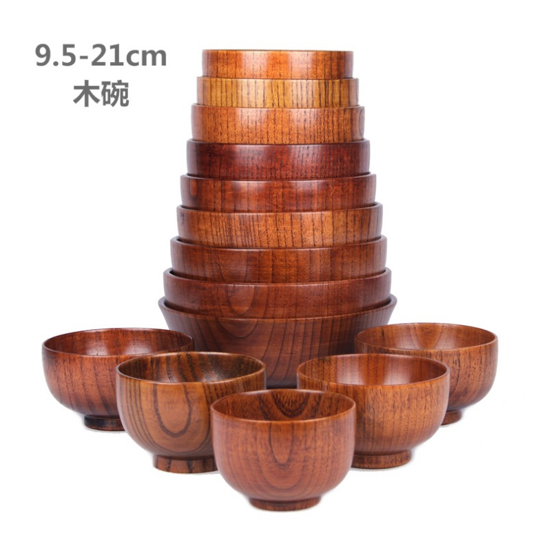 US $7.24 49% OFF|1pcs Kitchen Supplies Japanese Wooden Bowl Thick Anti Drop  Acid Zaomu Simple Jobs-in Bowls from Home & Garden on Aliexpress.com | ...