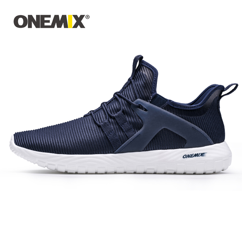 ONEMIX 2020 New Arrival Men Casual Loafer Shoes Lightweight Breathable Mesh Male Running Shoes Outdoor Training Jogging Sneakers