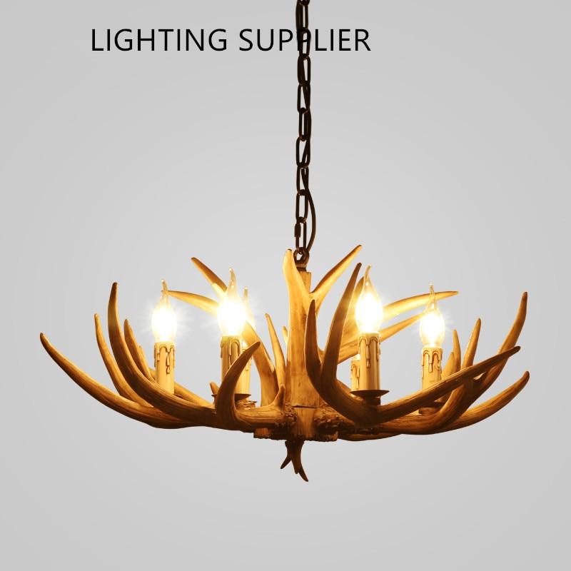 Campagna lampada Lampadario per La Casa illuminazione decorazione di natale al coperto pendentes lustri Corna di legno lampadario a soffitto