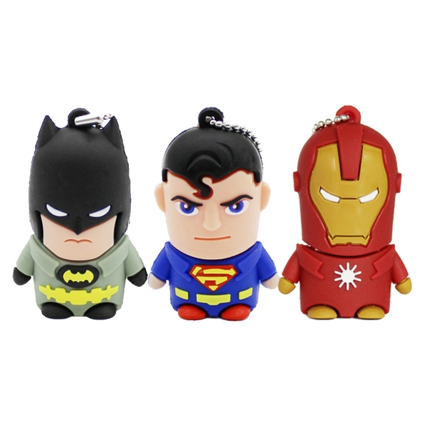 New Usb Flash Drive 64GB Pen Drive 32GB Pendrive 512GB 16GB 128GB Superman Batman Hot Avenger Pendrive Usb 2.0 Creativo Gift
