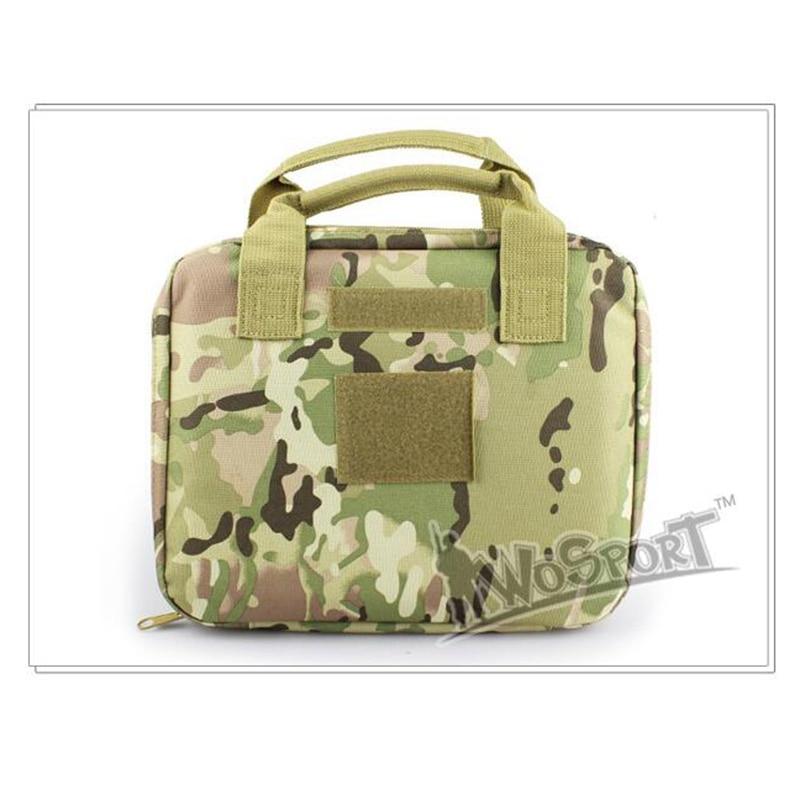Military Multicam ACU Single Pistol Range Bag Tactical Airsoft Gun Bag Soft 900D Nylon Gun Case