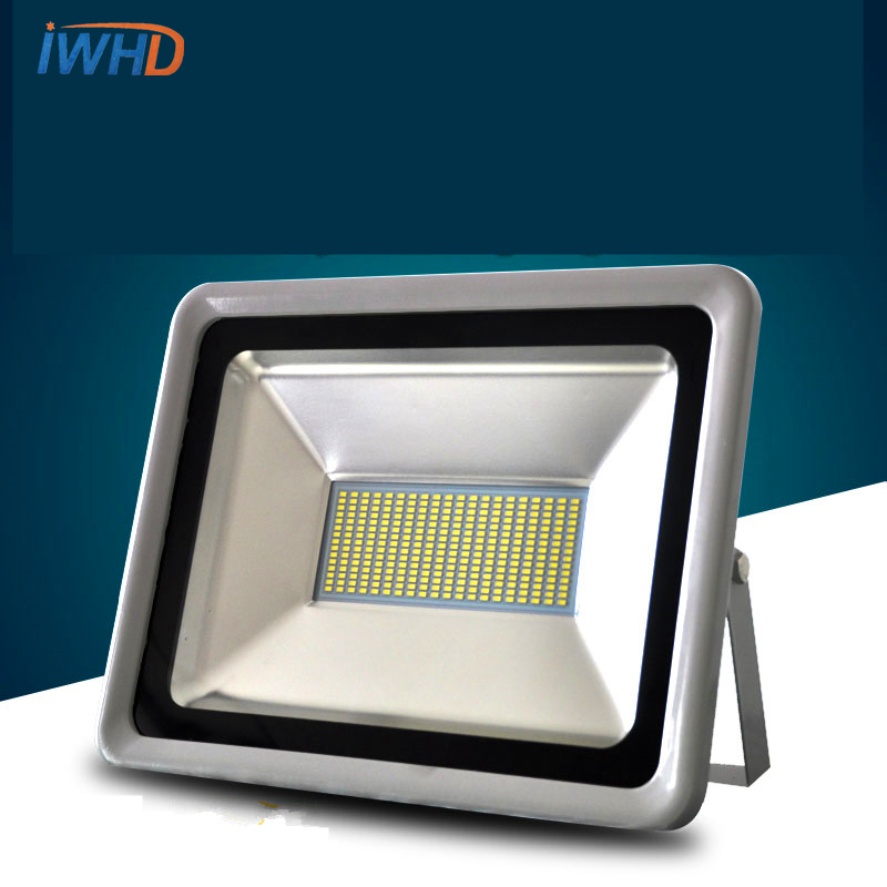 IWHD LED flood lamp outdoor lights waterproof 50W100w150W200W advertising lights outdoor lighting super bright LED lamps ultrathin led flood light 200w ac85 265v waterproof ip65 floodlight spotlight outdoor lighting free shipping