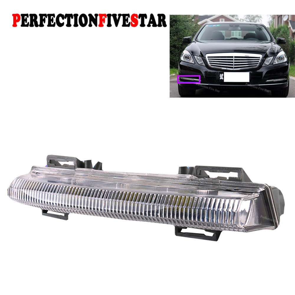 2049069000 Front Right Side DRL Daytime Running font b Lamp b font Fog Light For Mercedes