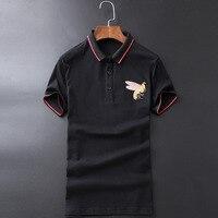 High Novelty 2019 Men collar Striped Embroidered Bees Fashion Polo Shirts Shirt Hip Hop Skateboard Cotton Polos Top Tee #G10