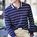 Troilus High Quality Men Polo Shirt 2016 Mens Fashion Brand Shirt Long Sleeve Striped Polos Men Business Casual Men's Polo Shirt