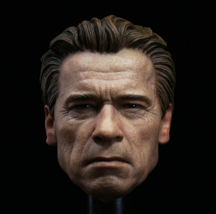 Custom Guardian 1/6 Head Sculpt for Muscular Hot Toys T800