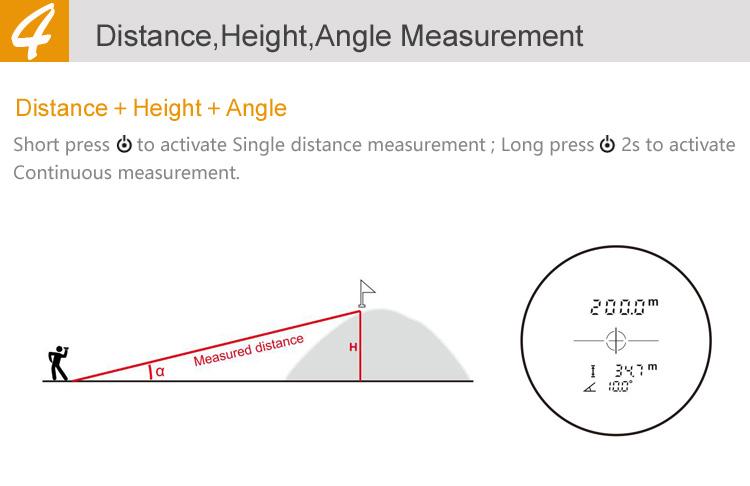 גולף טלסקופ המשקפת למדוד 18