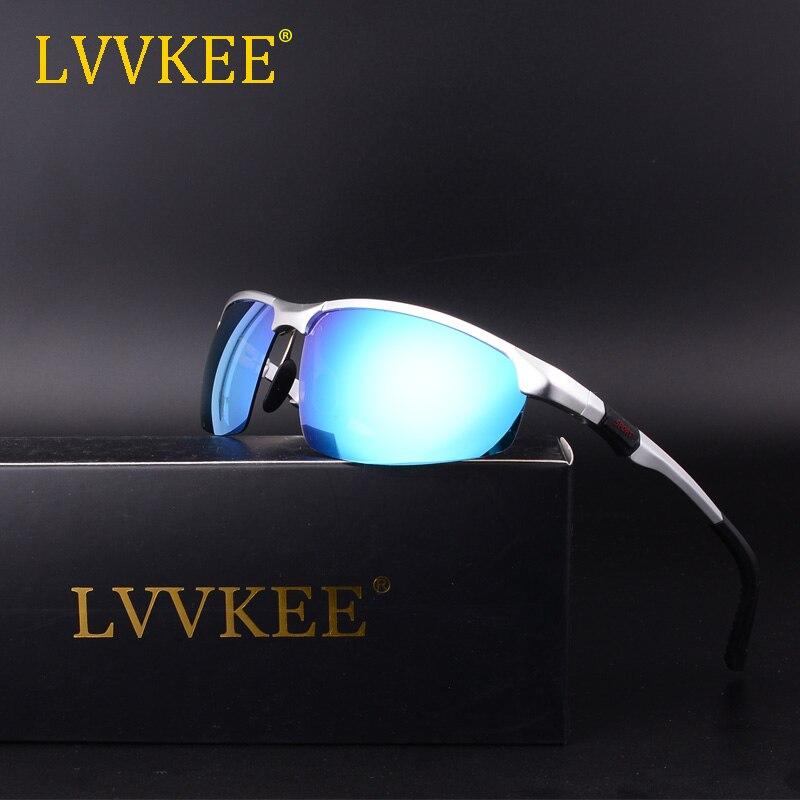 LVVKEE 2018 Kvalitní pánské sluneční brýle s polarizací pro muže Sluneční brýle Hliníkový magnéziový rám Sluneční brýle UV400 Gafas de sol