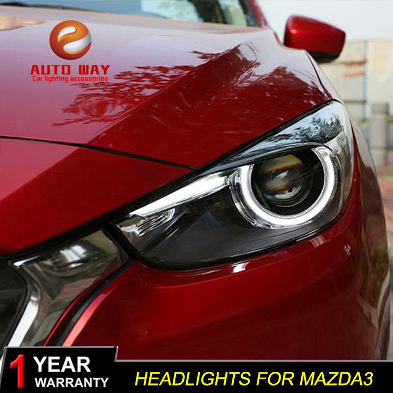 Գլխի լամպի պահոց Mazda 3 M3 Axela Mazda3 2017 2018 - Ավտոմեքենայի լույսեր - Լուսանկար 1
