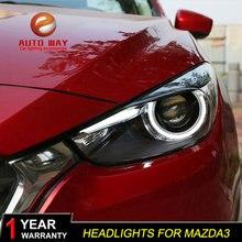 Head Lamp case for Mazda 3 M3 Axela Mazda3 2017 2018 Headlights LED Headlight DRL Lens Double Beam Bi-Xenon HID car Accessories