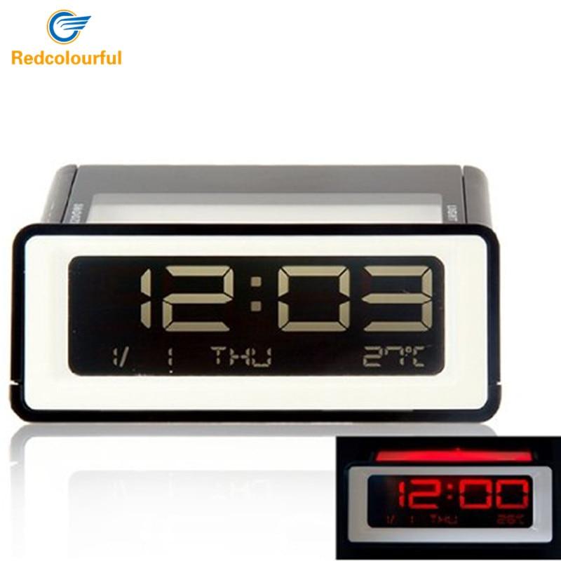 Digital LED Alarm Clock Calendars Bedside Night Light Reloj Despertador Table Clock Electronic Watch Square Temperature Display
